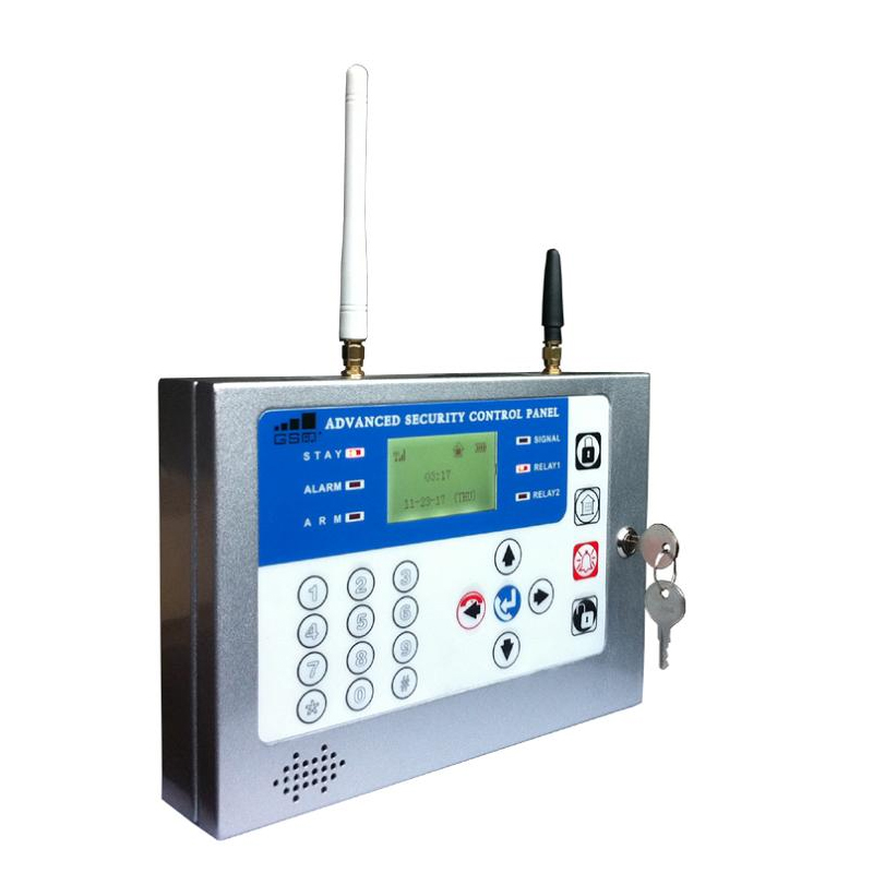 GSM Alarm System for bank factory business with 16 wireless zones 20 wired zones supports Android Apps image