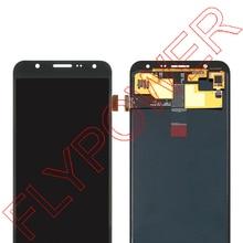 Untuk samsung galaxy J7 J700F J700 LCD Display dengan Touch Screen Digitizer Majelis Putih Hitam gratis pengiriman