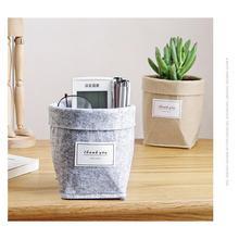 Nordic Simple Felt Desktop Storage Fleshy Flower Pot(Required Separate OPP Packaging When order,Note)