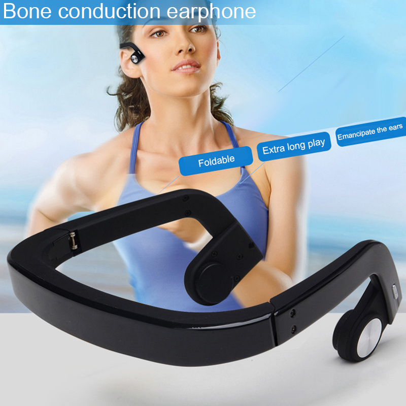 Bluetooth casque sans fil casque écouteur Conduction osseuse pour Sport extérieur ND998