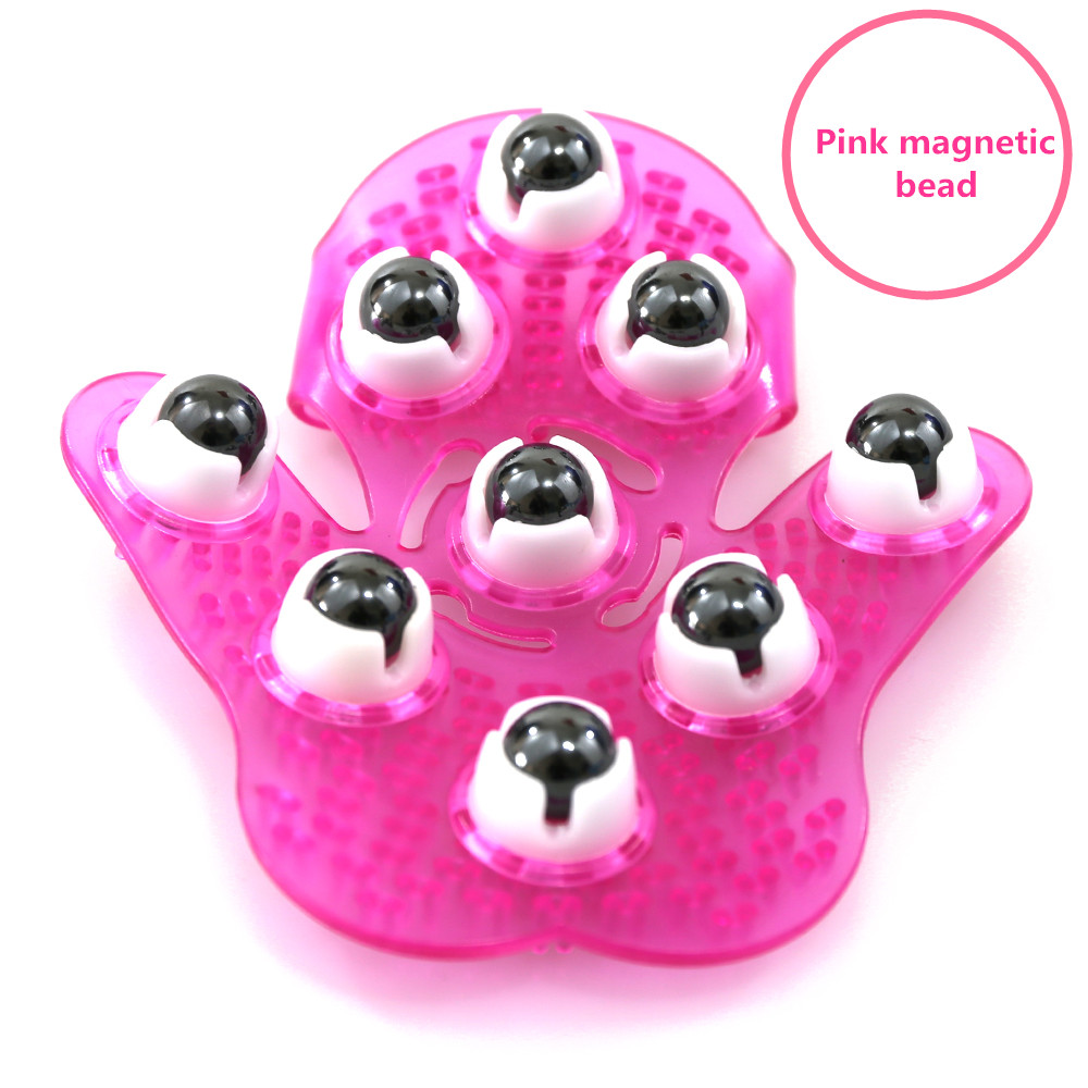 HIMABM 360 degree 9 rolling magnetic bead steel ball manual hand massager for body glove hand massager lose weight slimming