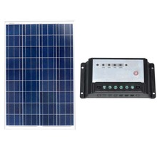 Solar Panel 100w 12V Polycrystalline For Solar Battery Charger 12 V Off Grid System Solar Controller Regulator PWM 20A SFP100 W 500w off grid system complete kit 5 100w poly pv solar panel with 45a controller for 12v battery