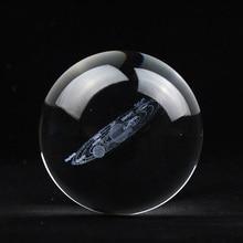 60MM80MM 3D Кристалл Солнечной системы мяч планет стекло лазерной гравировкой Глобус миниатюрный модель домашний декор пособия по астрономии подарок