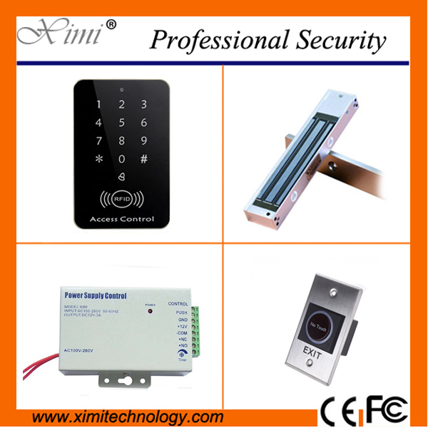 Single door access control system with 125khz RFID card without software door with 180kg/280kg magnetic lock, touch exit button single door access control system with 125khz rfid card without software door with 180kg 280kg magnetic lock touch exit button