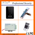 Single door access control system with 125khz RFID card without software door with 180kg/280kg magnetic lock, touch exit button