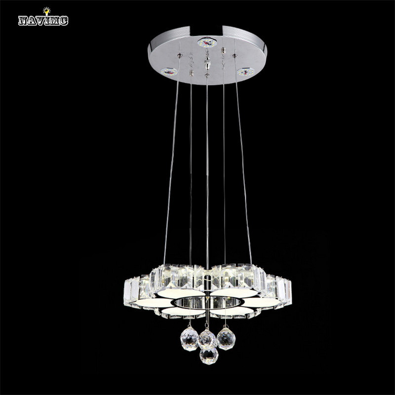Modern LED Crystal Pendant Light For Dining Room KItchen