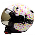 Free Shipping Taiwan authentic lions ZEUS ZS-210C motorcycle helmet half helmet retro couples / white fruit