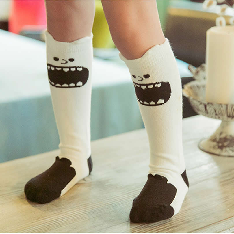 Cotton Blend Moustache Over the Knee Boot Socks