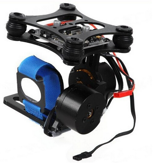 2-axis CNC Brushless Gimbal Camera Mount with Motor Controller FPV PTZ for Gopro Hero Hero3 3+ Quadcopter DIY FPV aluminum gimbal camera mount ptz with brushless motor controller for gopro 2 3 3 fpv dji phantom drones spare parts color black