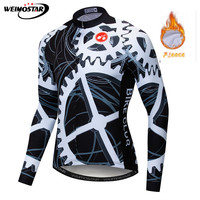 2019 Winter Thermal Fleece Long Sleeve Cycling Jersey Men Clothing Bicycle Outdoor Mountain Road Bike Shirts Wear