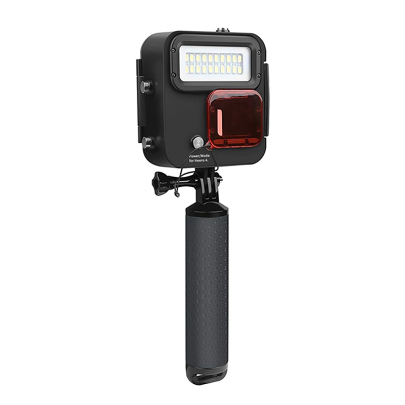 SHOOT 1000LM Kangaroo Diving Light for GoPro HERO7 Black/HERO6/HERO5/HERO4/HERO(2018),Waterproof Case 30m (98 feet), LED Under