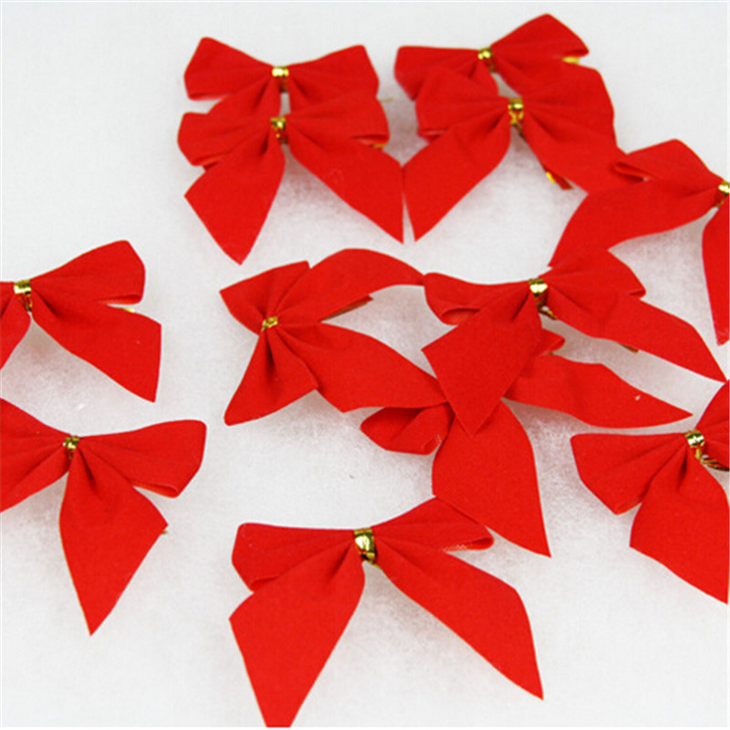 12pcs/pack Christmas Tree Decoration 5.5cm Small Red Bows Christmas Tree  Gold Bow Christmas Bowknot On Aliexpress.com | Alibaba Group