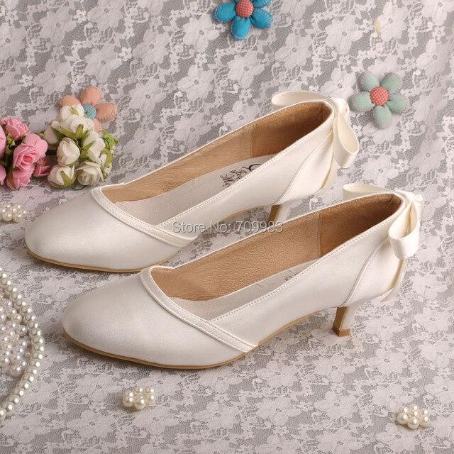 Nueva llegada zapatos arco mujer taco bajo nupcial de la boda bombas tamaño  9 Dropshipping adaf1b68cbee