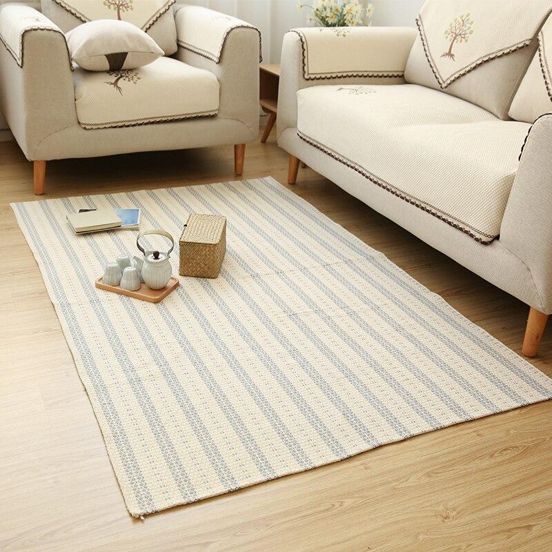 Winlife Einfache Blending Baumwolle Teppiche Wohnzimmer Schlafzimmer