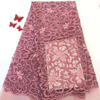 Cassiel Latest Pattern Velvet Lace Fabric High Quality Sequins Lace Fabric French Tulle Mesh Lace for Wedding Party Dress