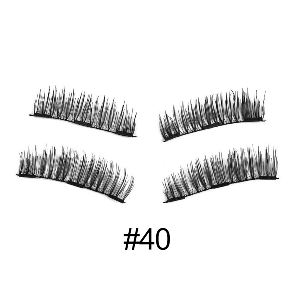 6 type Magnetic eyelashes with 3 magnets handmade 3D/6D magnet lashes natural false eyelashes comfortable with Gift Box