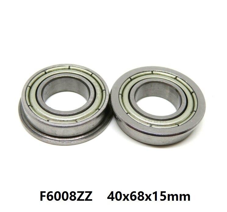 5 pièces/10 pièces roulement à bride F6008ZZ F6008 ZZ 2Z Z 40x68x15mm miniature bride roulements à billes à gorge profonde 40*68*15