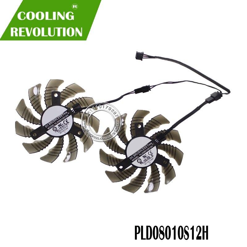 78 MM T128010SM GV-N960OC PLD08010S12H 12 V Ventilador De Refrigeração Do VENTILADOR Para Gigabyte GTX 960 fã Gráficos Placa de Vídeo Cooler Fan
