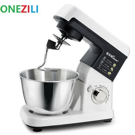 Professional Chef Home Kitchen Cooking Food 4l Electric Stand Mixer Dough Bread Mixing Machine Blender 6 Gears