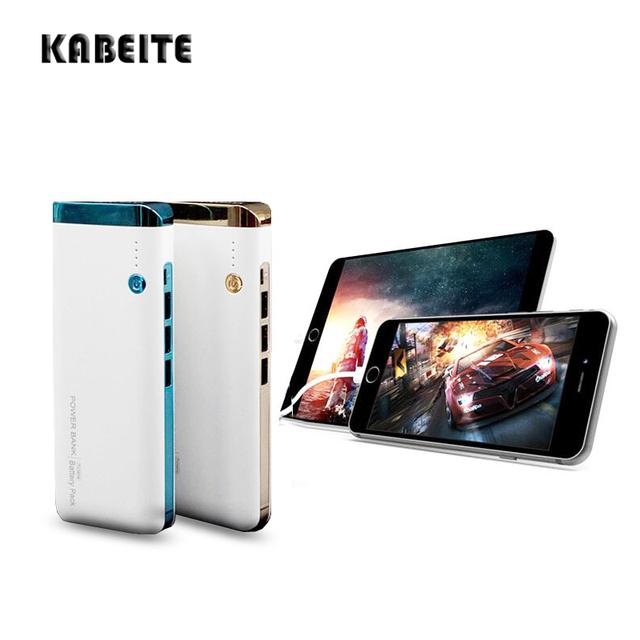 Kabeite gran capacidad 8000 mah batería externa del Banco de Potencia 3 USB cargador Portátil móvil cargador de metal para todo el teléfono