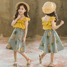 Children Clothes Girls Summer Clothes 2019 Girls Outfits Fashion Top+skirt 2pcs Suit Teenage Girls Clothing Kids Clothes цена и фото