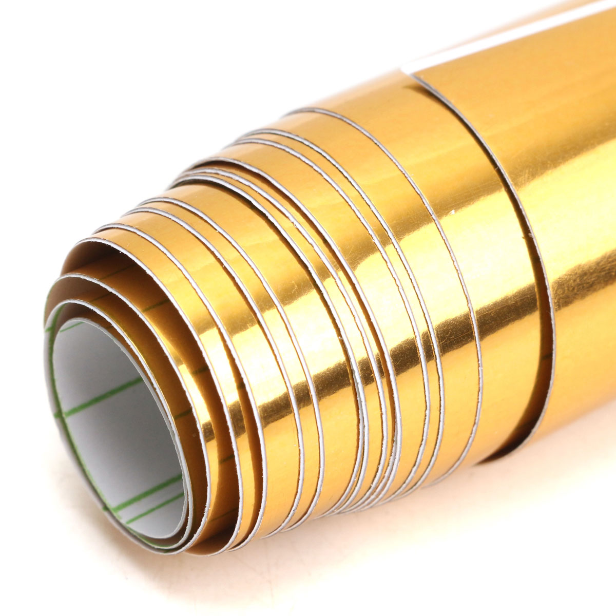 Image 5 - Gold Golden Chrome Mirror Vinyl Wrap Film Car Sticker Decal Bubble Free Air Release DIY Car Styling 10*150cm-in Car Stickers from Automobiles & Motorcycles