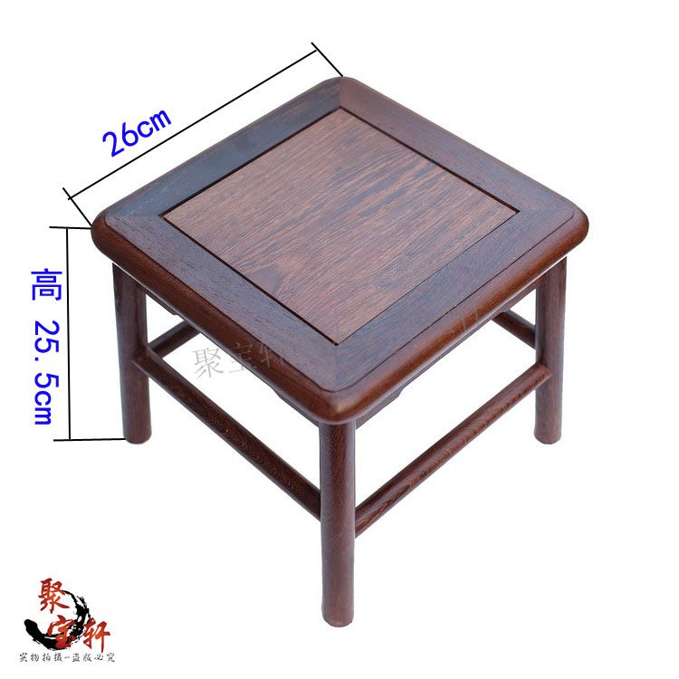 Small square mahogany chair stone vases of Buddha purple wood carving handicraft furnishing articles