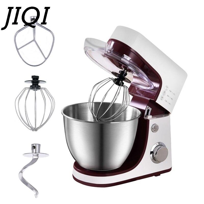 JIQI électrique électrique support à pain pâte mélangeur crème oeuf fouet mélangeur Chef malaxeur commercial alimentaire Milkshake batteur EU
