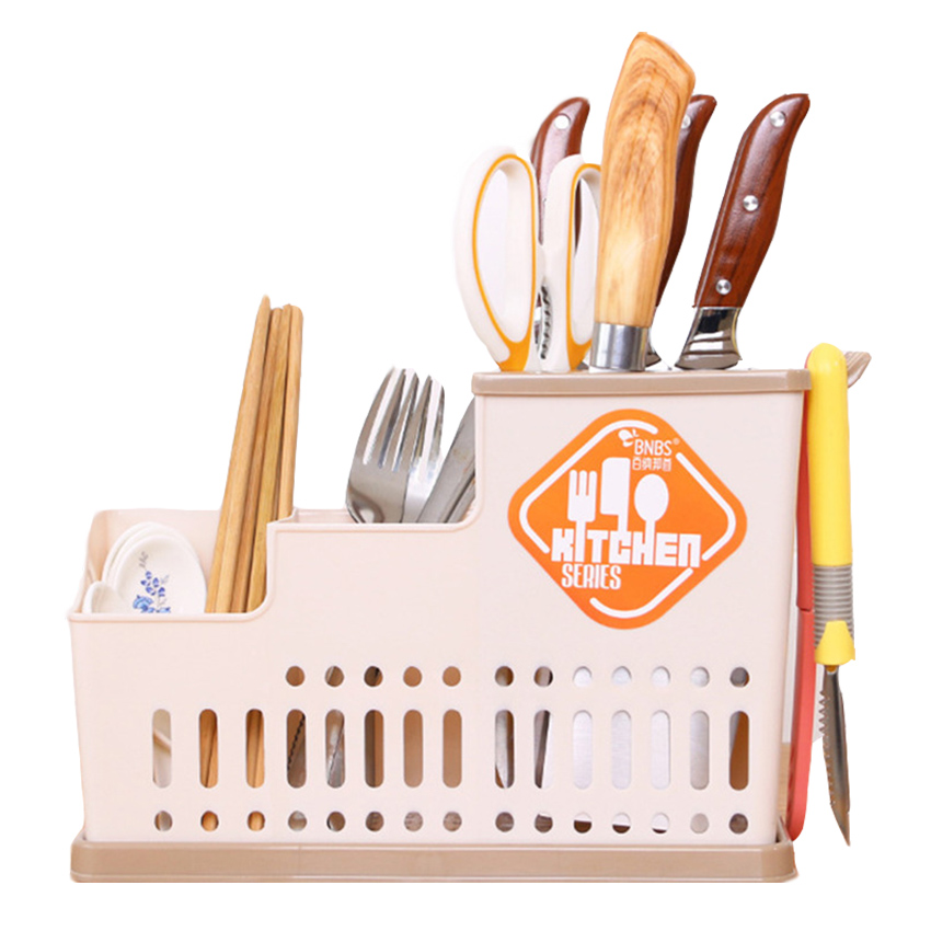 New Multi-function Kitchen Knife Holder Plastic Tableware Storage Box Kitchen Chopsticks Knife And Fork Accessories Free Post