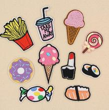 Cartoon food patches DIY clothing patch affixed decorative sewing accessories hat clothes Free Shipping