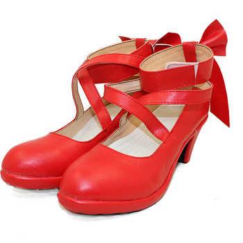 Puella Magi Madoka Magica Women\'s kaname madoka Cosplay custom high heeled shoes Sandals