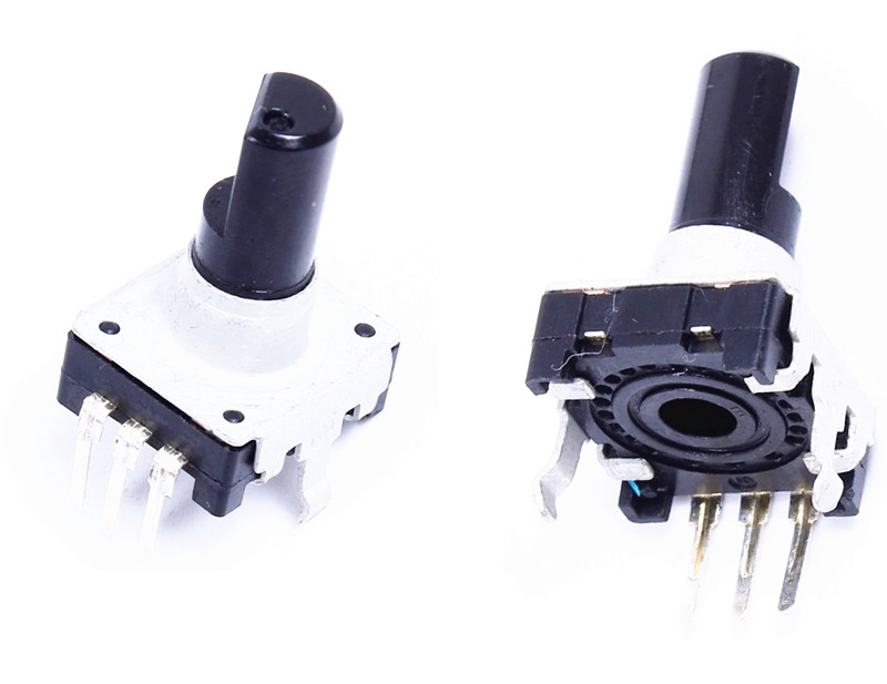5 Pcs Rotary encoder EC12 Audio digital potentiometer 15mm handle rotary encoder s7008c 1024bml5