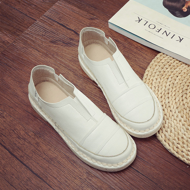 2017 WOMEN FLATS CASUAL SHOES FASHION HANDMADE FEMALE FASHION SHOES SRING SHOES SIZE 35- 40