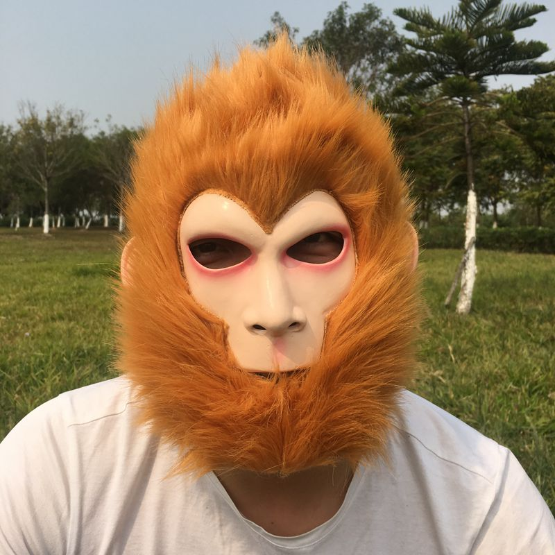 Halloween Mask Monkey King Latex Helmet Chinese Story quot Journey to The West quot Costume Clothes Cosplay Masquerade Party Supplies in Party Masks from Home amp Garden