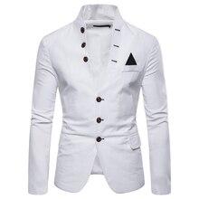 3112ebfb6e1 Trajes de hombre Blazers tamaño europeo 2019 primavera otoño Multi-botón  decorativo hombres Casual Stand