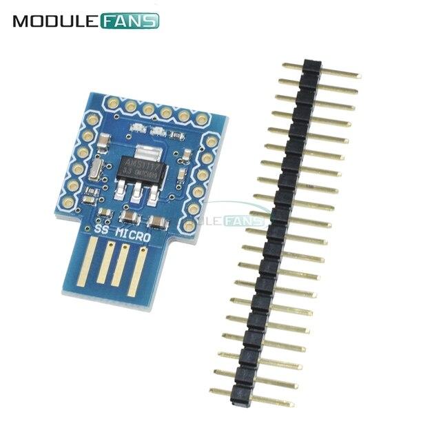 Pro Micro Mini SS Beetle Virtual Keyboard BadUSB ATmega32u4 Module For Arduino 16Mhz 3.3V 5V IO UART I2C SPI PWM Interface Board