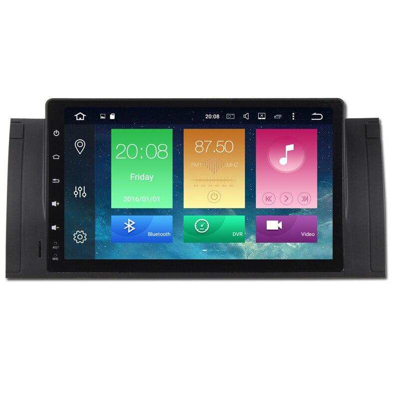 9 Android 8.0 Quad Core HD 1024*600 Écran 1 DIN Voiture DVD GPS 9 pouces Radio Stéréo Pour BMW E53 E39 X5 wifi 3G 4G GPS USB AUDIO