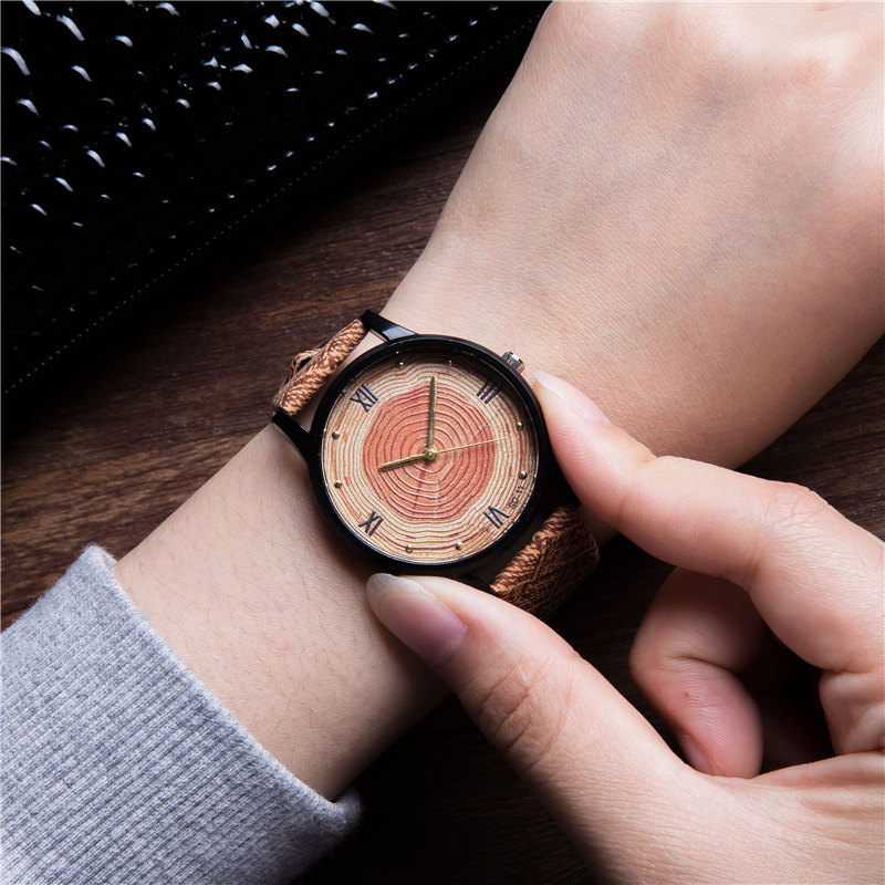 New 2017 Wood Retro Women Casual Watches Brand Vintage Leather ladies Quartz Clock Hours Woman Fashion Face Wooden dress Watch high quality fashion rock band backpack for teenage women men casual daypack college student preppy school backpack travel bags