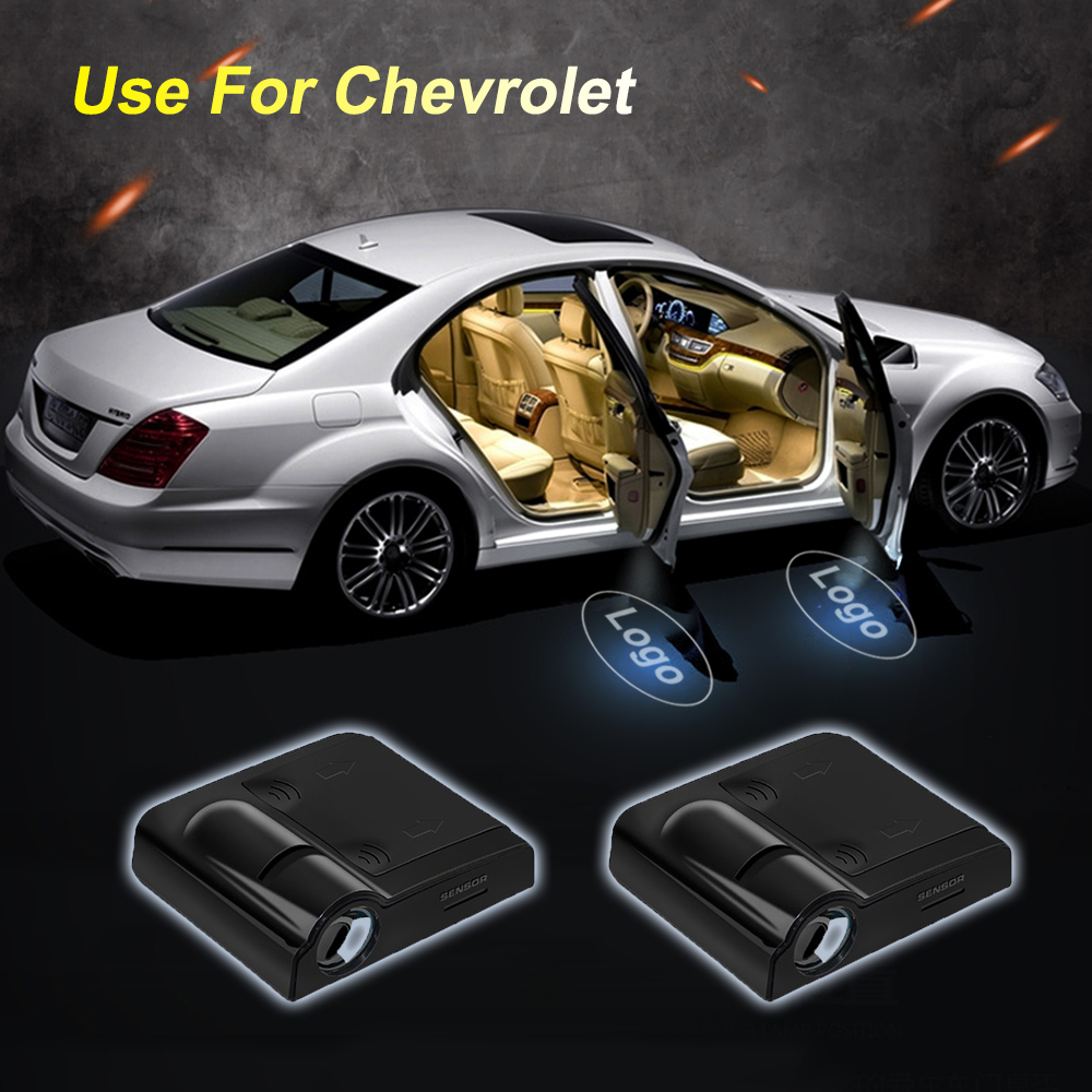 цена на 2X Logo projector LED Lamp Car Door Welcome Lights Shadow Light For Renault For Hyundai for Chevrolet Interior Lamp