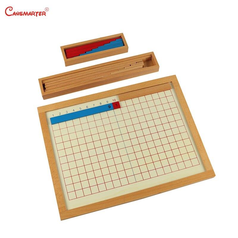 Montessori amical en bois jouets mathématiques apprentissage enfants matériaux Addition conseil de soustraction Maths jouet enfants 3-6 ans MA044-36