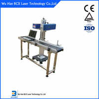 Fabryka bezpośrednio dostarczać 20W i 30W latające typu CO2 maszyna do znakowania laserowego do drewna/szkło/skóra