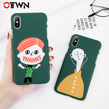 ФОТО ottwn cartoon phone case for iphone x 7 8 6 6s plus matte hard pc back cover fashion little boy letter pattern for iphone 6s