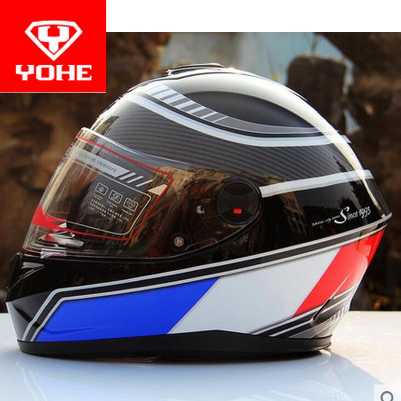 Knight equipment YOHE full face Motorcycle helmet Motor running motorbike helmets Warm scarf of ABS PC visor lens Model YH966 2018 summer new double lenses yohe full face motorcycle helmet model yh 967 made of abs and pc lens visor have 8 kinds of colors