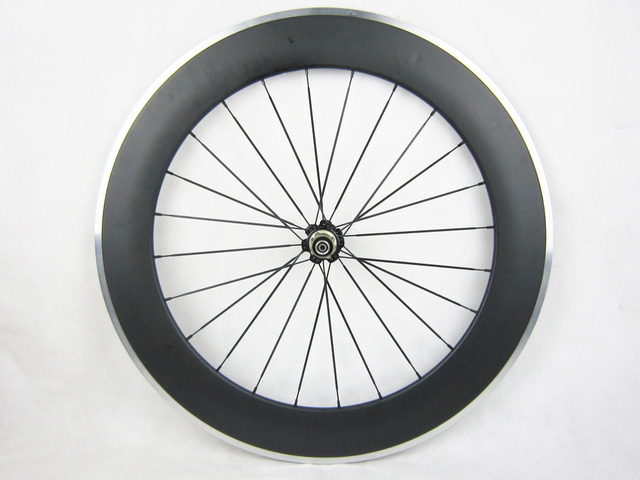 80mm Deep Carbon Bicycle Rear Wheel Customrized Accept Carbon