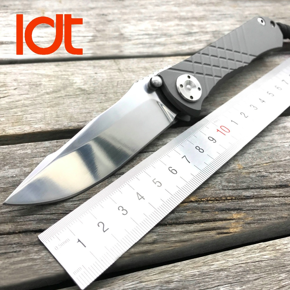 LDT Umnumzaan Folding Blade Knives D2 Blade Titanium Handle Tactical Knife Outdoor Camping Knife Hunting Survival EDC Tools