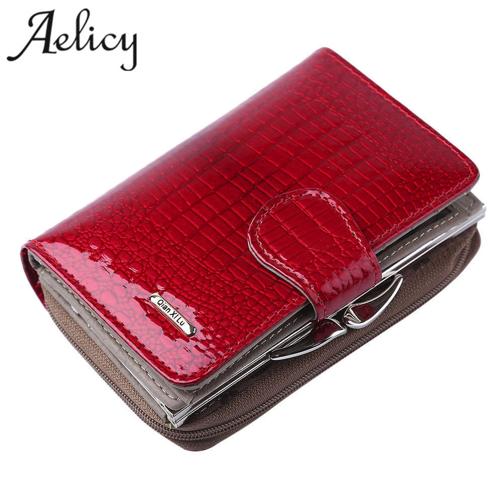 Aelicy Womens Wallets Brand Purses Female Long European and American Style Genuine Leather Wallet ladies wallet high capacity handbag 2018 new wallet european and american fashion eighty percent off ladies long wallet