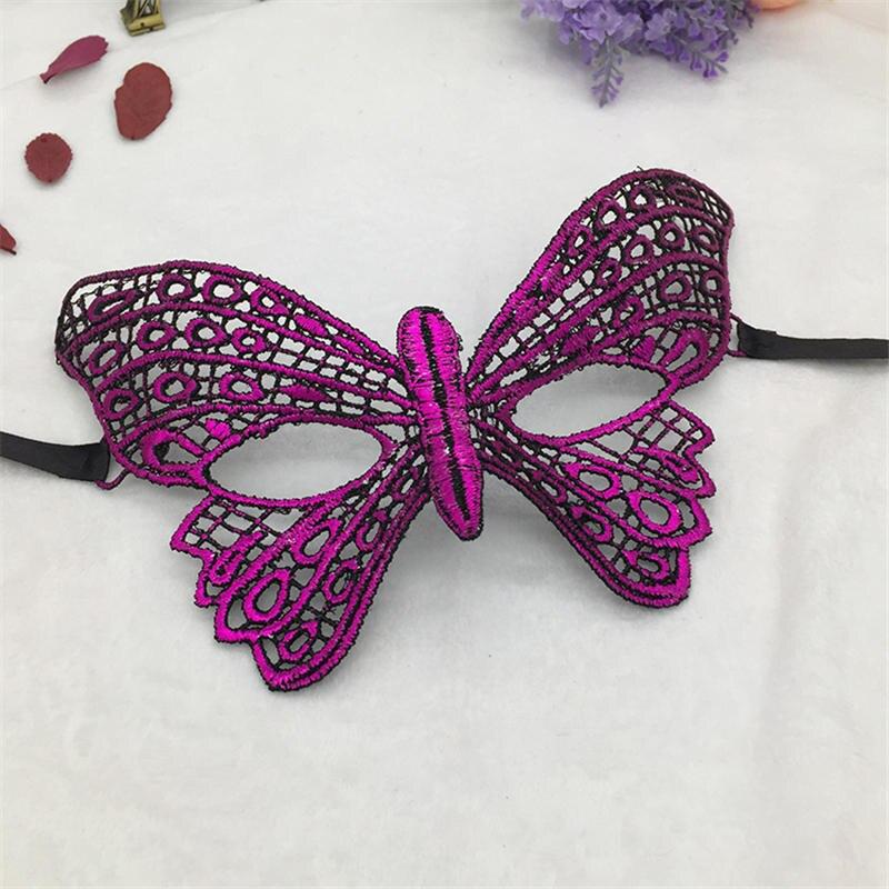 Фиксированная форма, Дамская Сексуальная Маскарадная маска из кружева для карнавала, Хэллоуина, выпускного вечера, Вечерние Маски, фиолетовые, горячее тиснение#35 - Цвет: PM037TZ