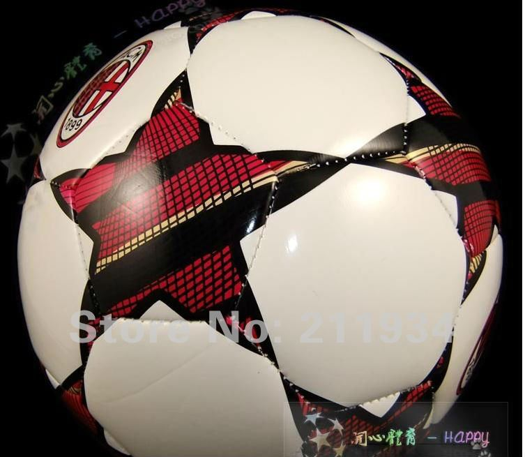 free shipping AC Milan size5 official soccer ball & football, champions football, factory direct sale, with packing box