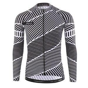 Image 2 - Maillot de cyclisme pour homme à manches longues, à séchage rapide, Maillot de sport dautomne