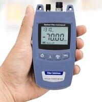 Мини FTTH 2-в-1 волоконно-оптический Мощность метр и 10 мВт 10 км прибор для визуального определения повреждения прибор для тестирования TL520-70dBm ~ +...